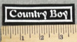 2949 L - Country Boy - Embroidery Patch