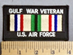 1727 S - Gulf War Veteran - US Air Force - EMbroidery Patch
