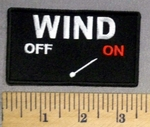 2689 CP - WIND - ON - Embroidery Patch