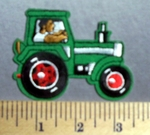 725 C - Green Tractor - Embroidery Patch