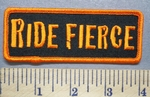 727 S - Ride Fierce - Orange - Embroidery Patch
