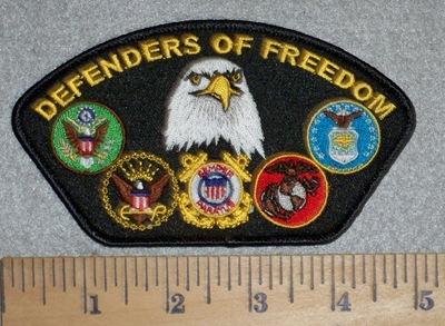 2799 W - Defenders Of Freedom - With Military Seals - Embroidery Patch