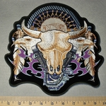 2196 N - Desert Skull With Dream Catcher,V- Twins and Eagles - Back Patch - Embroidery Patch