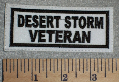 2644 L - Desert Storm Veteran - White Background - Embroidery Patch