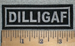 3333 L - DILLIGAF - Gray - Embroidery Patch