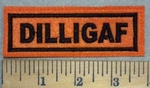3430 L - DILLIGAF - Orange - Embroidery Patch