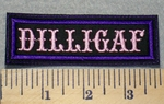 2296 L - DILLIGAF - Purple Border - Embroidery Patch