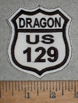 1844 L - Dragon US 129 - Embroidery Patch