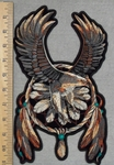 2858 G - Dream Catcher With Eagle - Back Patch - Embroidery Patch