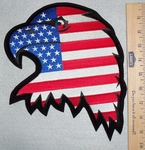 612 R - Eagle With U.S.A. Flag - Back Patch - Embroidery Patch