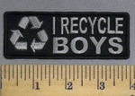 1718 CP - I Recycle Boys - Embroidery Patch