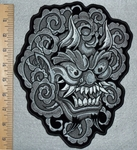 3098 G - DISCONTINUED  Evil Devil Face - Back Patch - Embroidery Patch