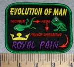 2608 W - Evolution Of Man - Embroidery Patch