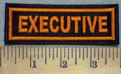 3437 L - Executive - Orange - Embroidery Patch