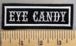 172 L - Eye Candy - White - Embroidery Patch