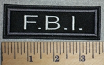 2736 L - F.B.I.- Gray Border - Embroidery Patch