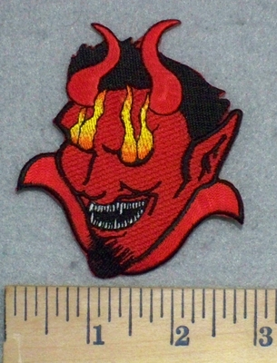 3403 N - Face Of The Devil - Red - Embroidery Patch