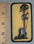 2629 W - Fallen Hero - Image of Boots, Gun and Helmet - Embroidery Patch