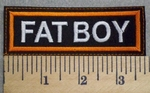 2566 L - Fatboy - Orange Border - Embroidery Patch