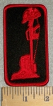 3201 W - Field Cross - Red - Embroidery Patch