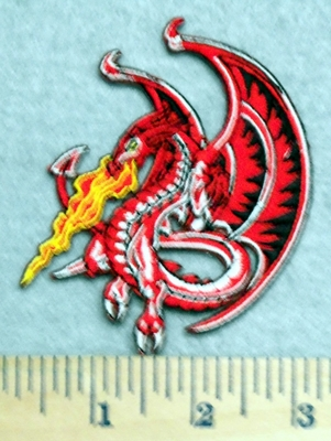 2875 N - Fire Breathing Dragon - Embroidery Patch