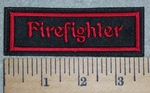 3037 L - Firefighter - Red - Embroidery Patch