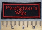 3397 L - Firefighter's Wife - Red - Embroidery Patch