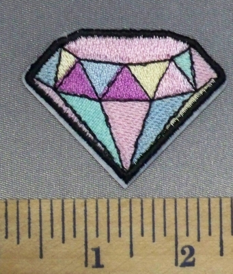 254 C - Pink Diamond - Embroidery Patch