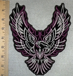 2590 G - Flaming Phoenix - Back Patch - Embroidery Patch