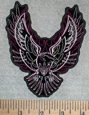2599 G - Flaming Phoenix - Mini Version - Embroidery Patch