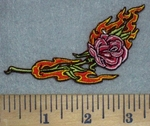 3462 N- Flaming Rose - Embroidery Patch