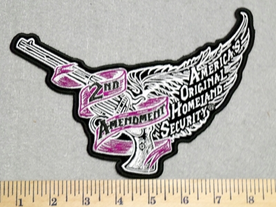 2938 G - Flying Pistol With Wings - 2nd Amendment - Back Patch