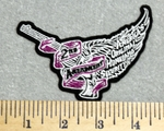 2933 G - Flying Pistol With Wings - 2nd Amendment - Embroidery Patch