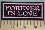 3427 L- Forever In Love - Pink - Embroidery Patch
