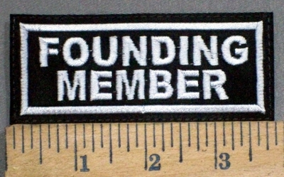 861 L - Founding Member -  Embroidery Patch