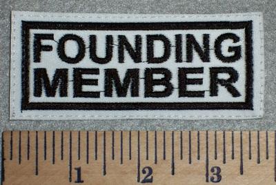 2645 L - Founding Member - White Background - Embroidery Patch
