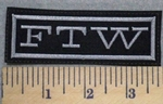 2581 L - FTW - Gray Border - Embroidery Patch