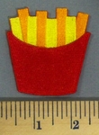 1697 C - French Fries - Embroidery Patch