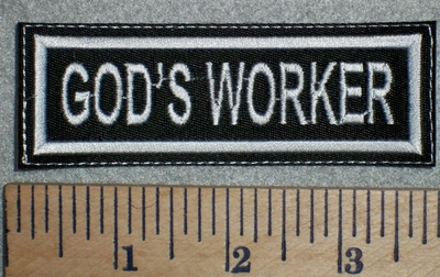 2756 L - God's Worker - Embroidery Patch