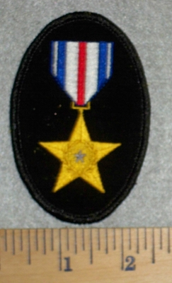 2781 W  - Gold Star Metal - Embroidery Patch