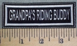 2541 L - Grandpa's Riding Buddy - Embroidery Patch