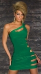 Green Over The Shoulder SLit Side Dress/Rally Wear - OS