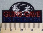 2560 G - Guns Gave Us Freedom - Eagle - Embroidery Patch