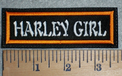 3324 L - Harley Girl - Orange - Embroidery Patch