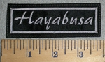 3383 L - Hayabusa - Gray -  Embroidery Patch