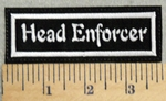 2910 L - Head Enforcer - Embroidery Patch