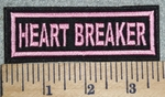 3063 L - Heart Breaker - Pink - Embroidery Patch