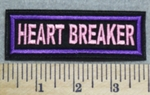 2988 L - Heart Breaker - Pink - Embroidery Patch