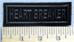 2986 L - Heartbreaker - Black - Embroidery Patch