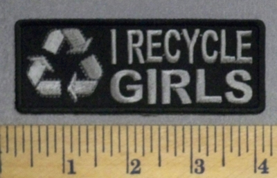 1789 CP - I Recycle GIRLS - Embroidery Patch